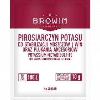 Pirosiarczyn potasu do stabilizacji wina i dezynfekcji BROWIN