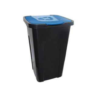 Kosz pojemnik do segregacji odpadów 50l niebieski KEEEPER
