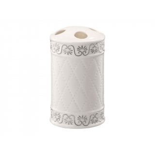Pojemnik na szczoteczki Castello biały BISK