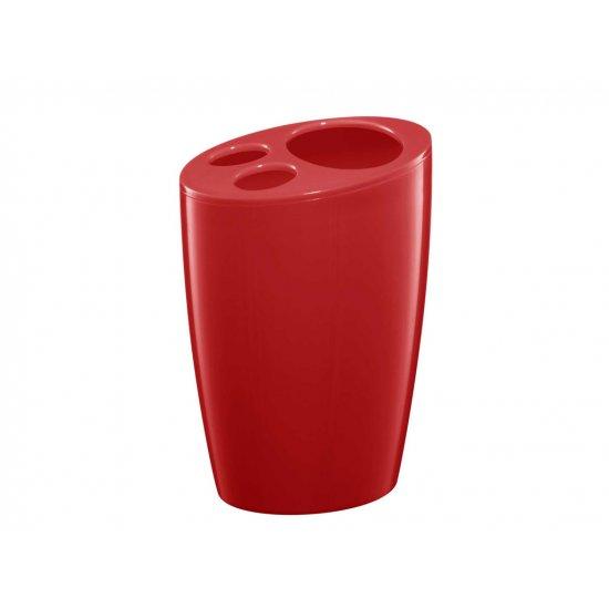 Pojemnik na szczoteczki czerwony Pop BISK