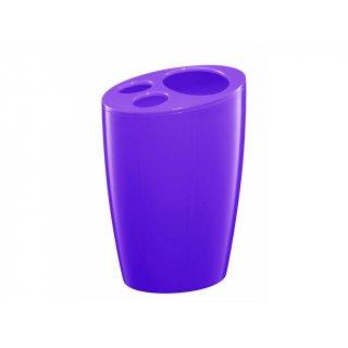 Pojemnik na szczoteczki fioletowy BISK