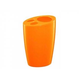 Pojemnik na szczoteczki pomarańczowy BISK