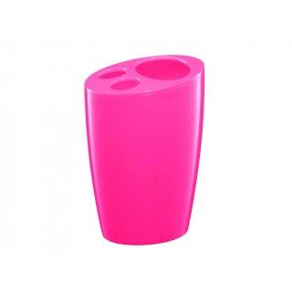 Pojemnik na szczoteczki różowy BISK