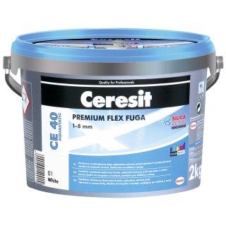 Fuga elastyczna Ceresit CE40 biała 2 kg HENKEL