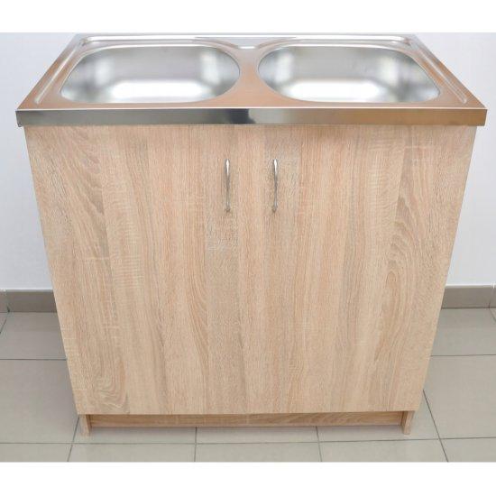 Szafka kuchenna pod zlewozmywak 80x50 dąb sonoma