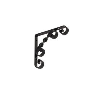 Wspornik półkowy ornament 10x10 cm czarny VELANO