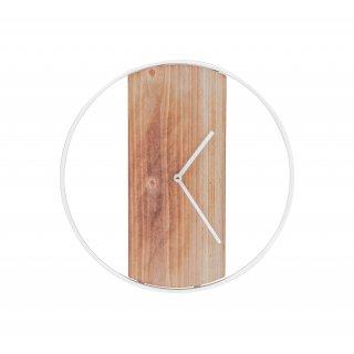 Drewniany zegar śr.36cm biały