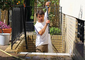 myjka w ogrodzie
