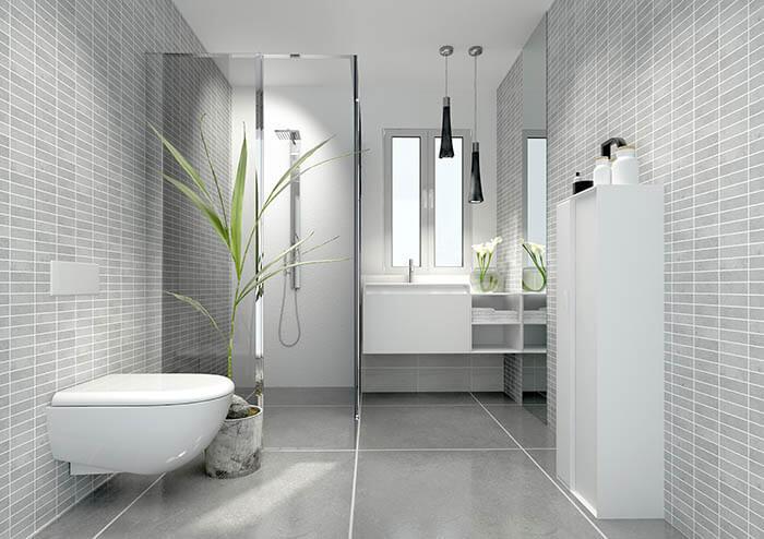 Dodatki do szarej łazienki