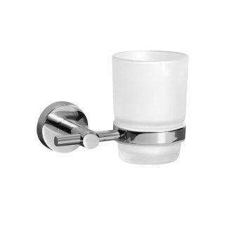 Szklanka z podstawką łazienkowa Foryou chrom BISK