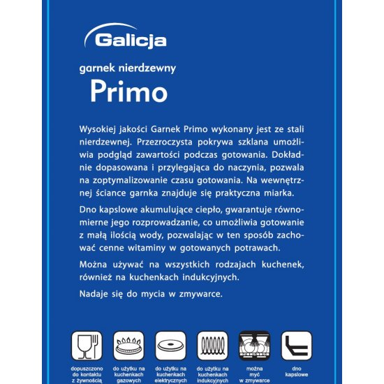 Garnek Primo 1,8 L GALICJA