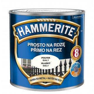 Farba na rdzę połysk biały 0,25 L Hammerite AKZO