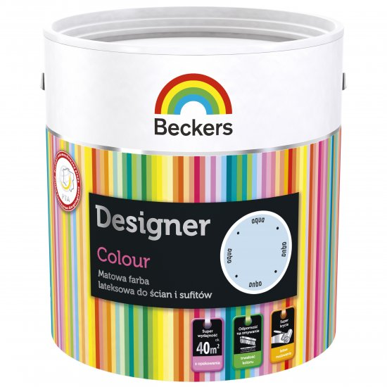 Farba lateksowa Designer 2,5L aqua BECKERS TIKKURILA