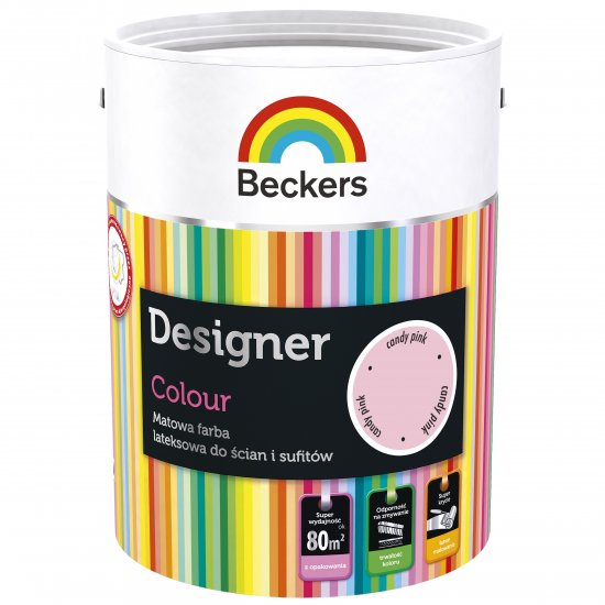 Farba lateksowa Designer 5L candy pink BECKERS TIKKURILA