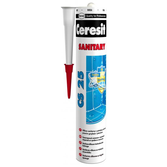 Silikon sanitarny Ceresit CS25 grafitowy 280ml HENKEL