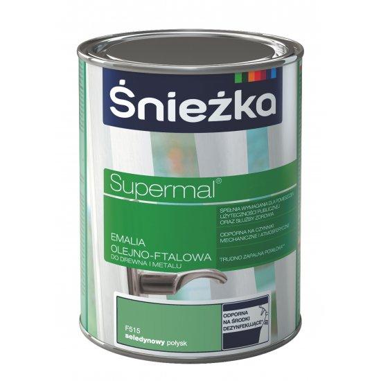 Farba do drewna i metalu seledynowy 0,8 L Supermal Śnieżka