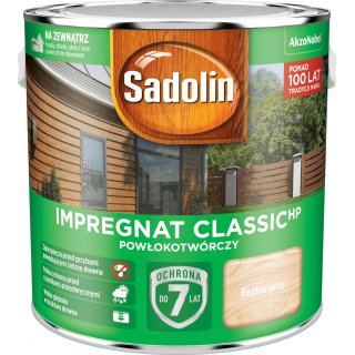 Impregnat do drewna Bezbarwny 2,5L Sadolin Classic