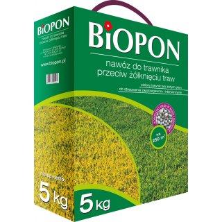 Nawóz do trawnika przeciw żółknięciu 5kg BIOPON