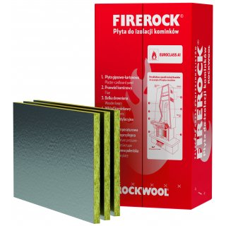 Wełna skalna w płytach Firerock 2,5 cm,(0,038 lambda) op.4,8 m2 ROCKWOOL