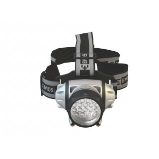 Latarka czołowa 18+2 LED EMOS