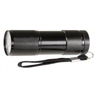 Latarka metalowa czarna LED EMOS
