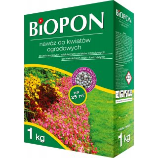 Nawóz do kwiatów ogrodowych 1kg BIOPON