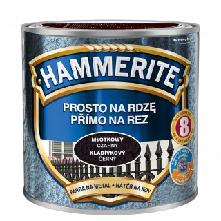 Farba na rdzę młotkowy czarny 0,25 L Hammerite AKZO