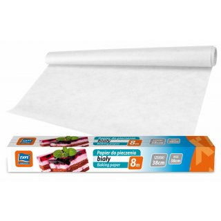 Papier do pieczenia biały 38cmx6m +2m gratis RAVI