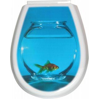Deska sedesowa Lilia foto ryba BISK