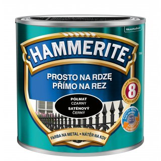 Farba na rdzę półmat czarny 0,25 L Hammerite AKZO