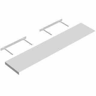 Półka samowisząca biała 118x23,5 cm VELANO