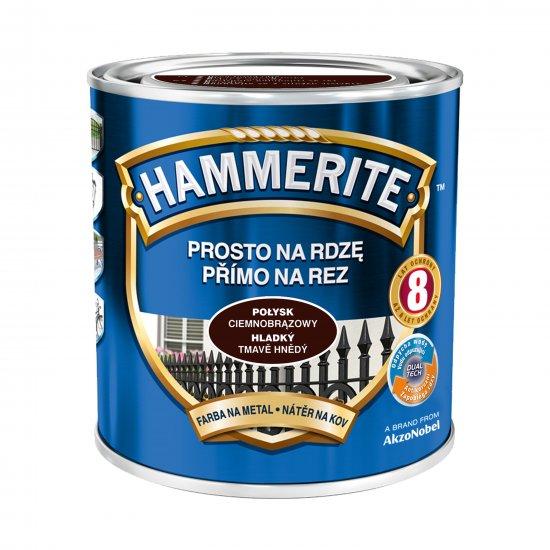 Farba na rdzę połysk ciemnobrązowy 0,7 L Hammerite AKZO