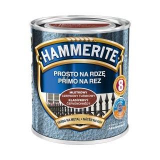 Farba na rdzę młotkowy czerwony tlenko. 0,7 L Hammerite AKZO