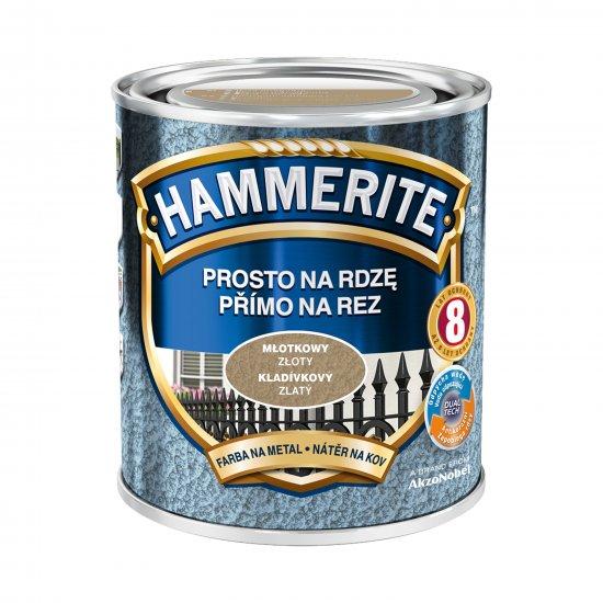 Farba na rdzę młotkowy złoty 0,7 L Hammerite AKZO