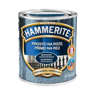 Farba na rdzę młotkowy ciemnoniebieski 0,7 L Hammerite AKZO