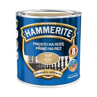 Farba na rdzę połysk złoty 0,7 L Hammerite AKZO