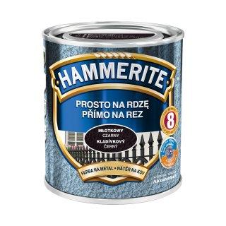 Farba na rdzę młotkowy czarny 0,7 L Hammerite AKZO