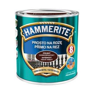Farba do metalu HAMMERITE Półmat Ciemnobrązowy 0,7