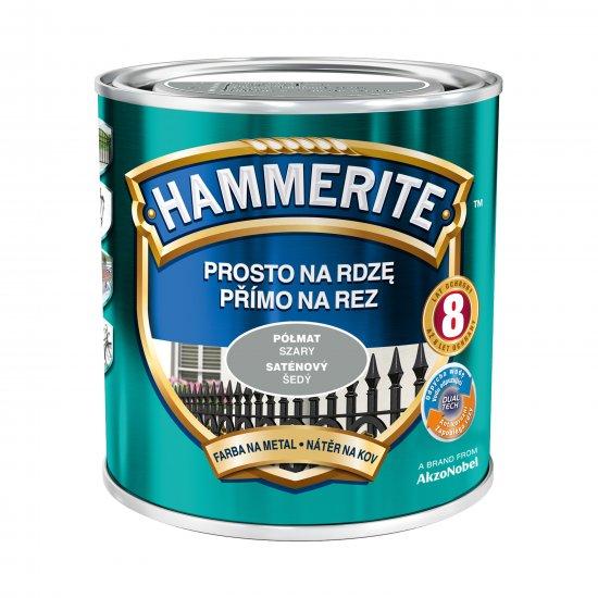 Farba na rdzę półmat szary 0,7 L Hammerite AKZO