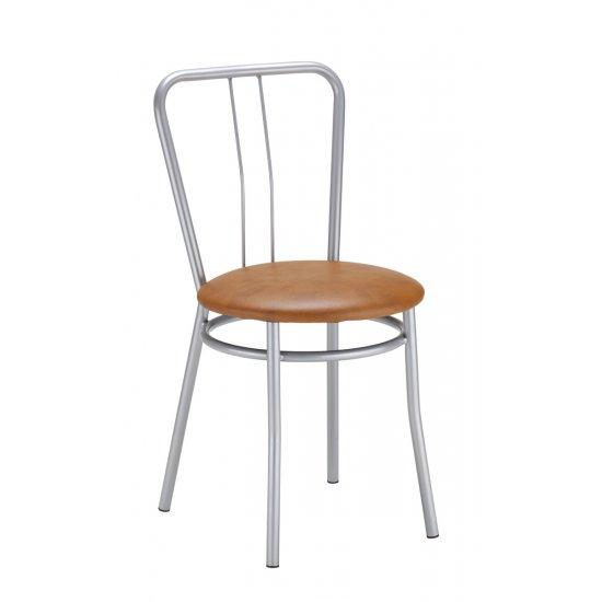 Krzesło kuchenne kolor brąz ALBA ALU NOWY STYL