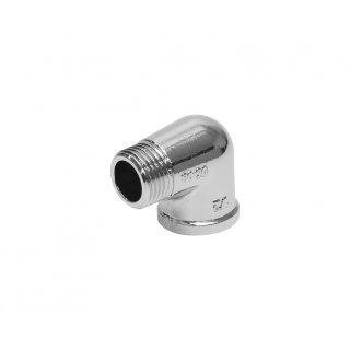 Kolano wkrętno-nakrętne 1/2 chrom TYCNER