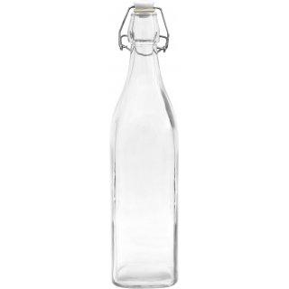 Butelka 1 L z hermetycznym zamknięciem - kwadratowa BROWIN
