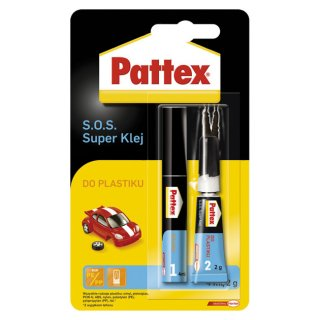 (G)Pattex S.O.S. Super Klej do plastiku 2g + 4ml 1534374