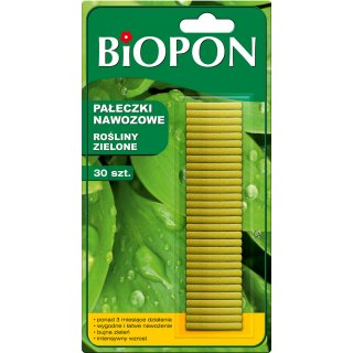 Pałeczki nawozowe do roślin zielonych 30 szt. BIOPON