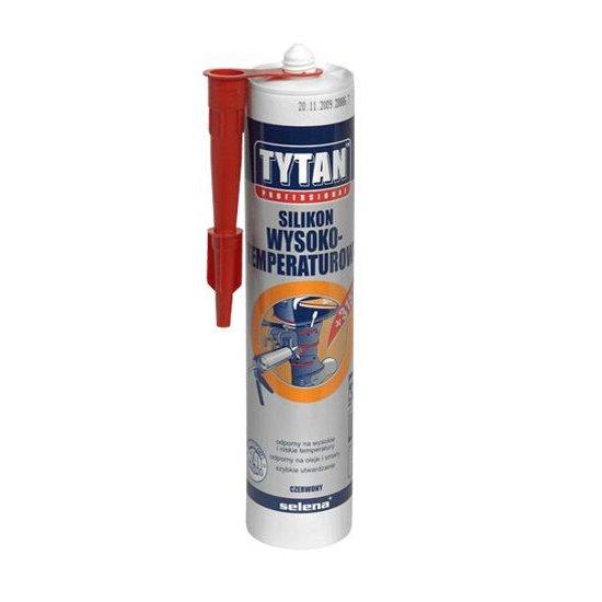 Silikon wysokotemperaturowy czerwony 310 ml TYTAN