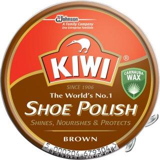 Pasta do butów w puszce 50 ml Shoe Polish brąz KIWI