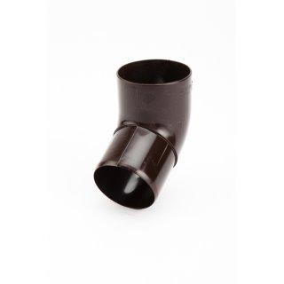 GALECO kolano 67° PVC 50 ciemnobrązowy