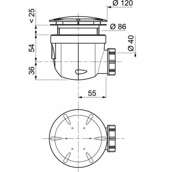 Syfon brodzikowy Twisto Fi 90 mm TYCNER