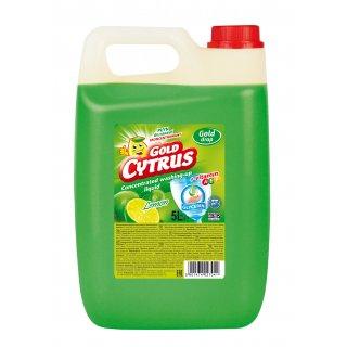 Płyn do naczyń zielony 5LGOLD CYTRUS