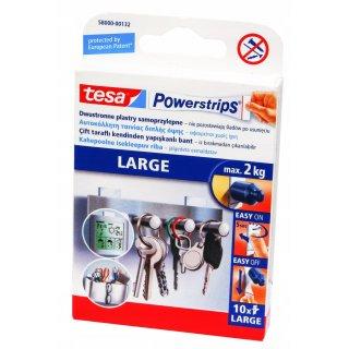 Plastry samoprzylepne Powerstrips 10 szt. duże do 2 kg. TESA